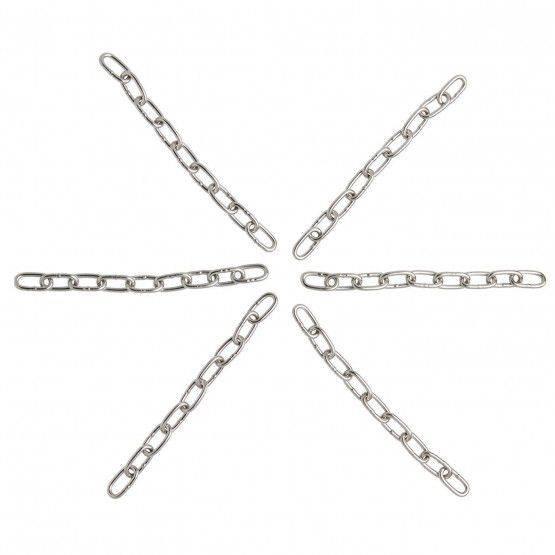 Kurzgliederkette VA Ø 3 mm, 6 x 15 cm
