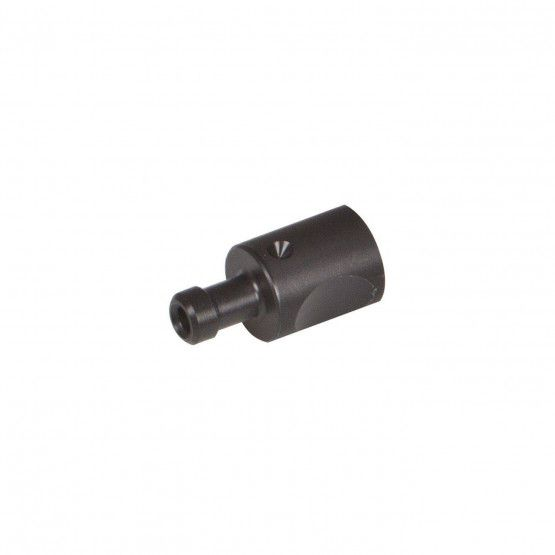 Gaskupplung Ø 15 x 31 mm POM schwarz