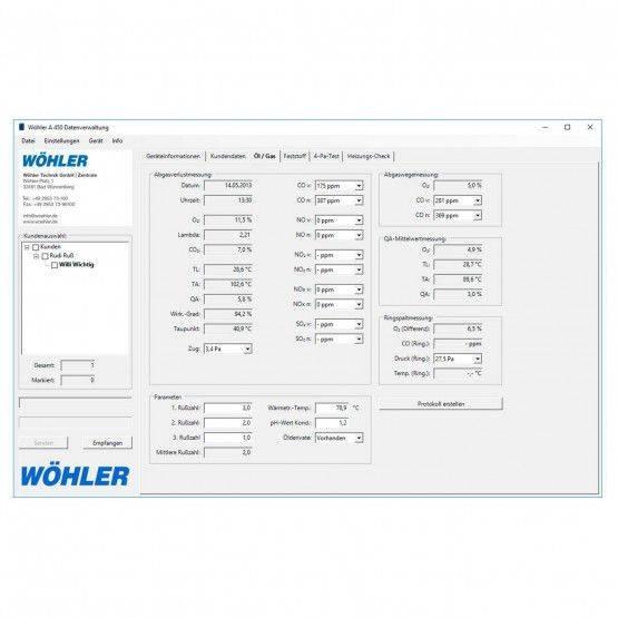 Wöhler A 450 PC-Software