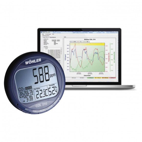 Wöhler CDL 210 CO2 Messgerät