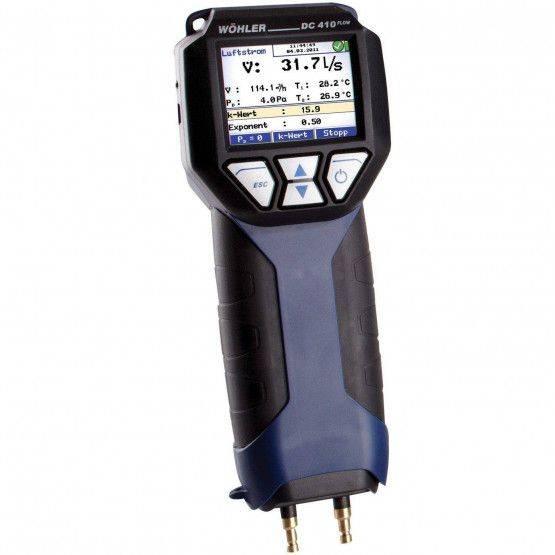 Wöhler DC 410 FLOW Pressure differential & flow meter