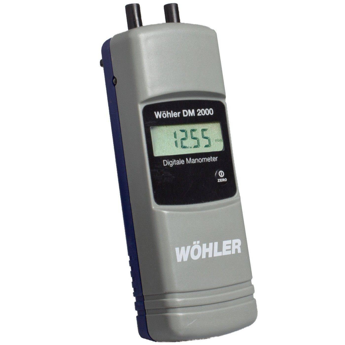 digital manometer. wohler dm 2000 digital manometer